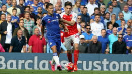 Chelsea v Arsenal English League Football - Barclays Premier League Stamford Bridge Stadium, London, England. 19th September 2015  Chelsea's Eden Hazard & Arsenal's Hector Bellerin  Picture by Dan Westwell  dan.westwell@btinternet.com 07793 733140